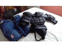Ice Hockey Net Minding Items good condition (attic clearance) Medium Male.