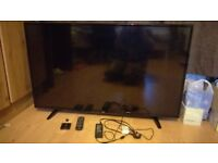 49 Inch LG LED TV - With Original Stand, Remote & HDMI Splitter - Excellent Condition