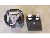 Playstation 1/2 Gamester Dual Force steering wheel controller and pedals