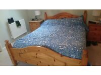 QUALITY KING SIZE PINE BED WITH DREAMWORKS MATTRESS