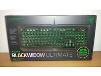 Razer Blackwidow Ultimate 2016 Clicky and Stealth Mechanical Gaming Keyboard - NEW, BNIB