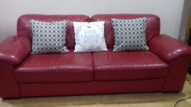Sofa 321 red leather immaculate condition