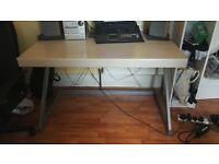 solid metal framed desk
