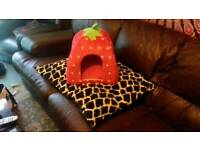Large dog bed and cat house