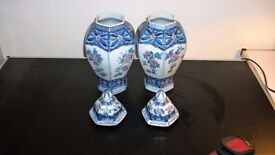 CHINESE VASES WITH TOPS