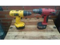 Dewalt, DW928, Milwaukee heavy duty, cordless drills without charger