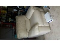DFS cream leather power recliner armchair BARGAIN