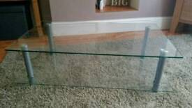 REDUCED Glass TV table