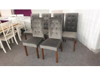 Julian Bowen 6x Madrid Velvet Dining Chairs Can Deliver