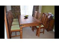 Maharani Dining Table and 6 Chairs