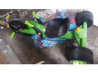 Green 3 wheel go kart