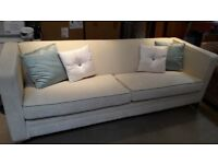 4 seater ex show house settee including cushions