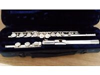 Trevor James Silver Flute with Original Case - (TJ10xiii) - Good Working order