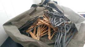 100's new matching coat hangers wooden and plastic -BARGAIN sale