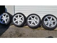 Audi Genuine 17 alloy wheels + 4 x tyres 225 45 17