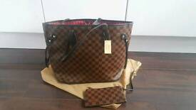 Louis Vuitton damier neverfull bag & purse