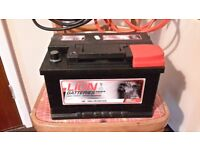 Available again VW 12v battery for T4 transporter and 3m heavy duty jump leads and jerrycan