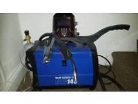 Wolf MIG 140 Gas / No Gas Combination Turbo with Leopard Solar Powered Auto-Darkening Welding Helmet