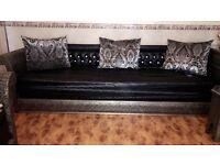 Silver Moroccan sofa set