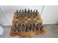 Ornamental Chess Set with Table