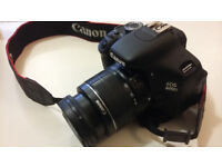 Canon EOS 600D with 18-55mm lens for sale.