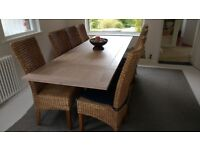 Rattan Cane High Backed Dining Chairs
