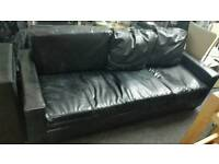 Sofa black 3 seater