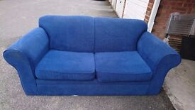 Somtoile Blue 2-Seat Sofa/Bed