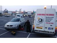 24hour mobile tyre emergency services available london puncture flat tyres fitter fitting services