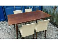 M&S solid wood table and chairs CAN DELIVER