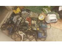 power tools spares hammer drill, grinder, saw joblot