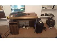 Dark wood (vaneer) desk