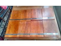 8 or two sets of four solid wood placemats