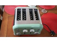 Morphy Richards 4 slice sage green Toaster for sale, unwanted gift brand new model 242006
