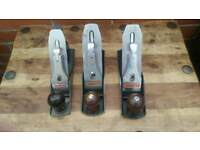 Stanley bailey planer no. 4, metril planer, each £ 25, all £60