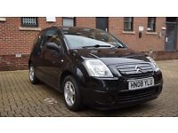 Excellent condition Citroen C2 Cachet 1.1 3dr Black Manual Petrol