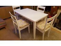 White Kitchen Table & 4 Chairs