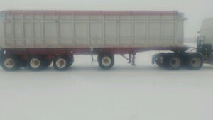 End Dump Grain Trailer