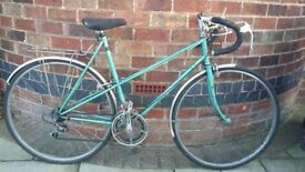 Vintage Raleigh Silouette classic ladies road bike -green