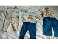 x3 Baby boys outfits - x1 sleep suit and x1 winter body suit