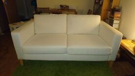 White Two Seater Sofa - Fabric - IKEA