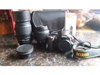 Nikon Digital camera D3100 with accessories