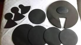 Acoustic drum kit sound dampener kit