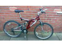 Adults Olympus mountain bike 20 inch frame good working condition and ready to ride