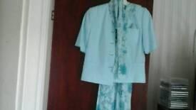 Ladies occasion outfit 5pc aqua size 10 Vivien Lawrence