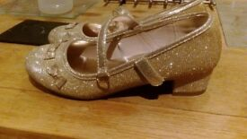 Sparkly Gold Monsoon girls shoes size 2