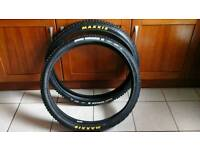 """BRAND NEW PAIR OF MAXXIS HIGH ROLLER II DH TYRES 27.5 """" X 2.4"""