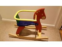 Pin Toy wooden rocking horse