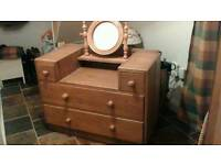 Solid Oak Dressing Table - Wax Finish