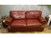 Faux Leather 2-Seater Sofa